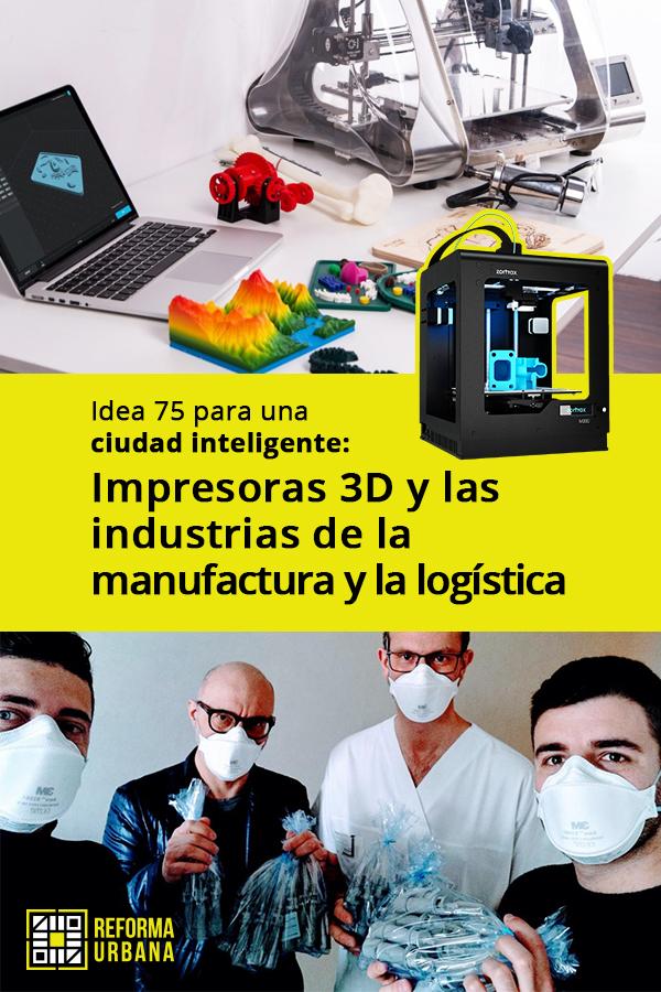 Impresoras 3D y las industrias de la manufactura y la logística